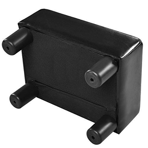 Costwayオットマンスツールベンチ足置き足置き台PUレザーブラック