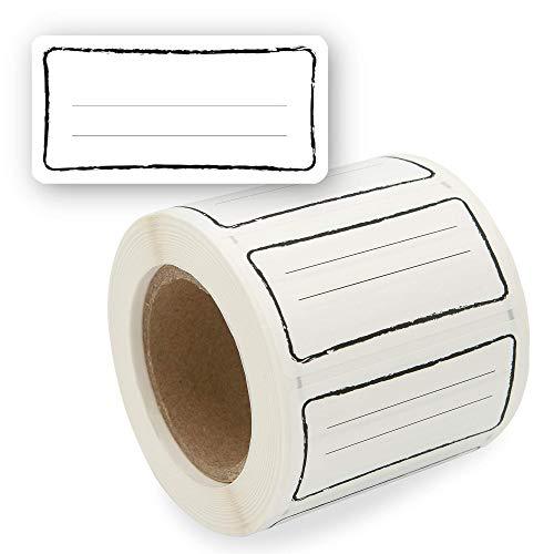 Etiketten Selbstklebend 500 Stück, Klebe-Etiketten zum Beschriften von Einmach-Gläsern, Aufkleber Marmeladenglas Beschriftbar, Gewürzetiketten 60x30mm