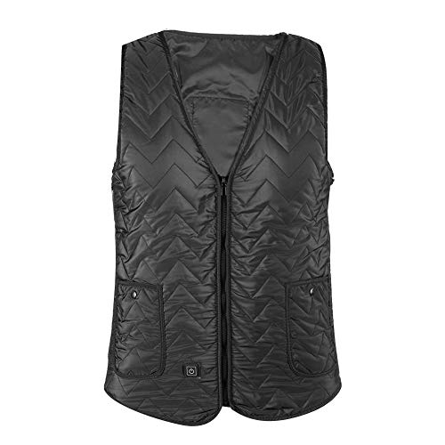 Beheizte Weste, Männer Frauen Einstellbare USB-Heizung Ärmelloser Mantel Männer Frauen Winter Warme Weste Jacke für Outdoor-Aktivitäten wie Schneemobil, Camping oder Büro Routine und Geschäft(XL)