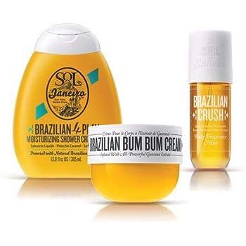 Sol De Janeiro Brazillian Obsession Colletions, Full Size (240ml) Brazilian Bum Bum Cream, Full size (240 ml) Brazilian 4Play Cream Gel, (240 ml) Full Size Brazilian Body Mist - Bundle 3 Pack