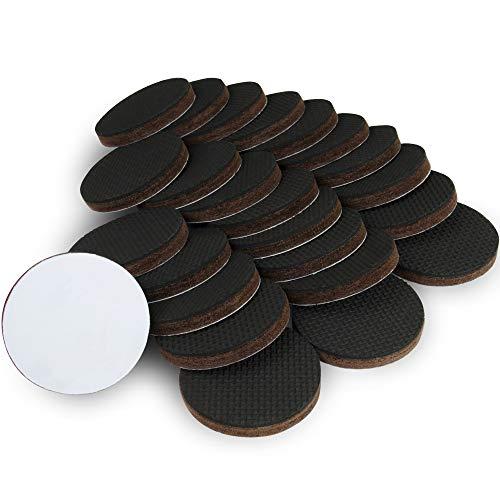 Protectores de piso x-protector - 24 pcs 50mm almohadillas antideslizantes - Patas de goma premium - La almohadilla antideslizante de alta calidad - ¡Deje que sus muebles se mantengan en su lugar!