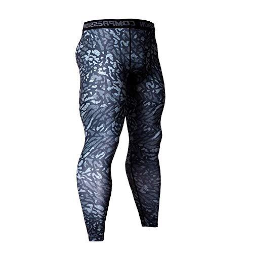Ducomi Leggings Uomo a Compressione, Pantaloni Running e Yoga - Leggins Elastici per Fitness da Ragazzo - Tight Abbigliamento Sportivo Traspirante e Leggero per Corsa, Sport, Palestra (Blue, S)