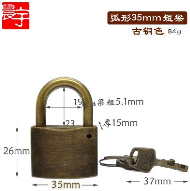 1set  High Quality Vintage Long Padlock Safe AntiTheft Lock with Key Home Improvement Hardware.  (color  2 arc)