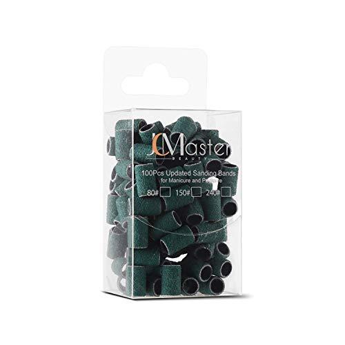 JCMASTER® 100x Premium Nagelfräser Schleifhülsen, Fein 240 Schleifbänder, Maniküre/Pediküre/Hornhaut, Fusspflege, elektrische Nagelfeilen