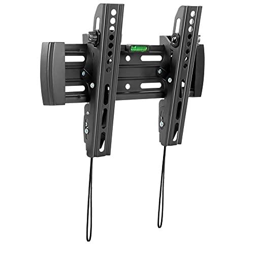 RICOO TV Wandhalterung Flach Neigbar Kippbar (N4522) Universal für 23-42 Zoll (bis 50-Kg, Max-VESA 200x200) Curved LCD OLED Bildschirm Fernseh-Wand-Halterung