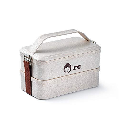 EVFIT Fiambreras Sistema De Doble Capa de Fibra de granzas Caja de Almuerzo Puede ser calentado por microondas preservación del Calor y de la Caja de preservación a Prueba de Fugas