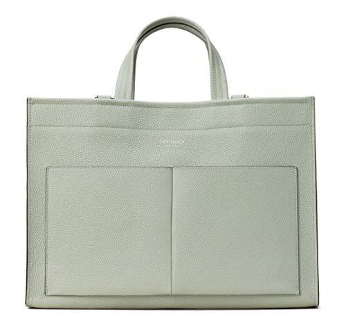 Kate Spade New York Sam Large Pocket Pebble Leather Satchel Bag, Light Pistachio