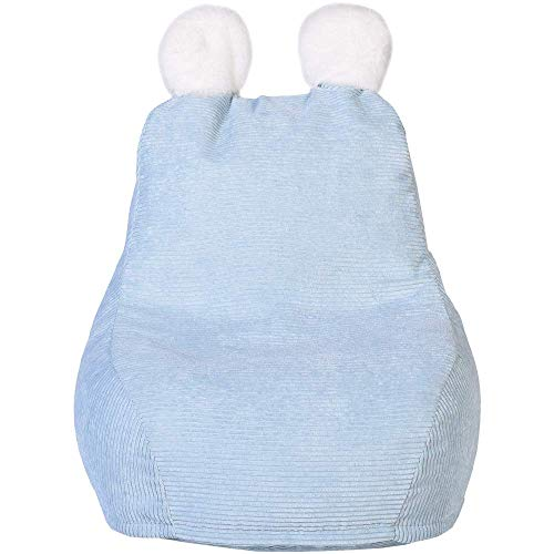 Home Deco Kids – Sitzsack für Kinder, Blau Ted – 40 x 62 x 70 cm – Sitzhöhe 23 cm