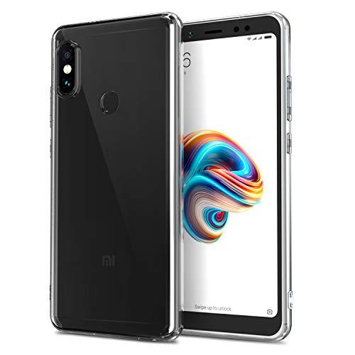 NEW'C Funda para Xiaomi Redmi Note 5, Anti- Choques y Anti- Arañazos, Silicona TPU, HD Clara