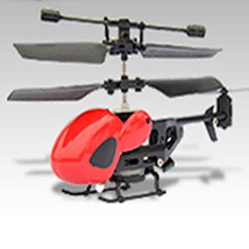 AKDSteel Helicóptero com controle remoto 2.5 de acesso a avião 5013 Infravermelho durável com giroscópio canal 2.5 – Cabeça redonda (vermelha) para presente de brinquedos