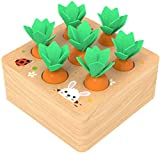 Ancaixin Wooden Toys for 1 Year Old Boys and Girls Montessori Shape Size Sorting Puzzle Carrots...