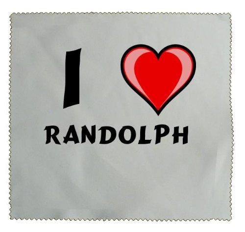 Personalisiertes Putztuch zur Kontaktlinsen/Brillenreinigung mit Aufschrift Ich liebe Randolph (Vorname/Zuname/Spitzname)