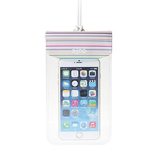 Aiino SeaCase Custodia Universale Impermeabile per Cellulare Smartphone Fino a 5.5  , Multicolore
