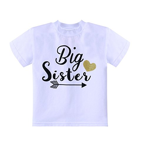 WINZIK Little Baby Girls Kids Toddlers Outfits Big Sister Print T-Shirt Pullover Tee Tops Clothes Co - http://coolthings.us
