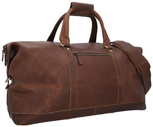 Gusti Weekender Ruben - Bolsa de viaje de piel, tamaño grande, 36 L, unisex, para hombre y mujer