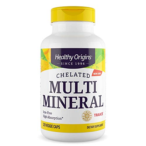 HEALTHY ORIGINS - Chelated Multi Mineral, Iron Free - 120 Veggie Caps
