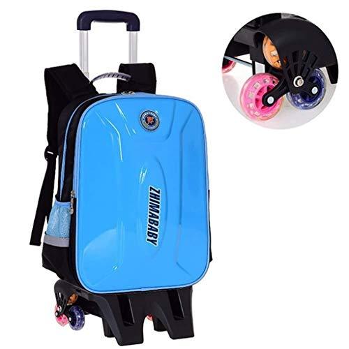 Student Trolley Backpack - Schooltas voor kinderen, waterdicht, voor meisjes van 6 tot 15 jaar, kinderen met 6 wielen