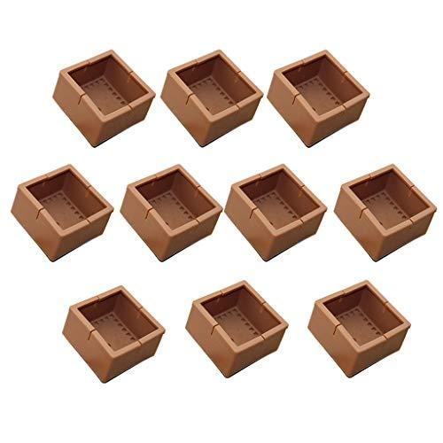 UMIWE 8PCS Silicona Tapas Antideslizante Cuadrados Muebles Patas de Patas Mesa Pies Cubiertas Cubiertas Muebles Almohadillas Protector de Piso Bleu Tazas de Goma para Pies de Silla