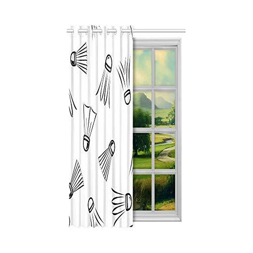 N\A Beste Verdunkelungsvorhänge Badmintonschläger und Tennisschläger Vorhang Fenster Lichter 52x63 Zoll (132x160cm) 1 Panel Verdunkelungsvorhang Vorhang für Schlafzimmer Wohnzimmer
