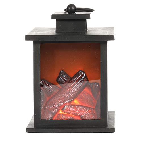 Jingles LED open haard lantaarn met warm flikkerend effect vlam