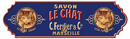 Cartexpo AT605 Alimentation Accroche Torchon Savon Le Chat Métal
