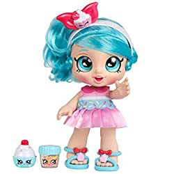 Meet Jessicake and discover the world of Kindi Kids and their Rainbow Kindi Pre-school Kindi Kids 10 Inch doll, and 2 Shopkin accessories Doll head wobbles and bobbles Clothes are changeable and shoes removable Shake Sprinkles to Decorate herCupcake...