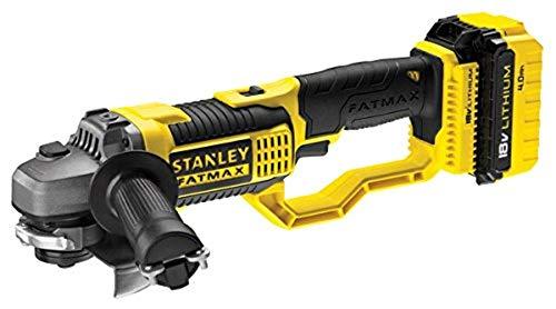 STANLEY FATMAX FMC761M2-QW - Amoladora 125mm, 18V, con 2 baterías de litio 4Ah y maletín