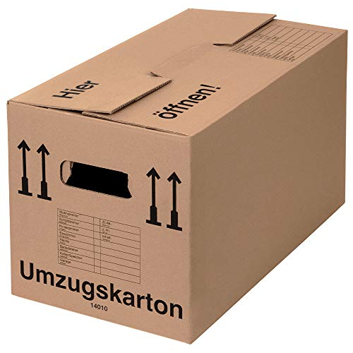 BB-Verpackungen 10 x Umzugskarton Profi 600 x 328 x 340 mm (stabil 2-wellig aus recycelter Pappe)