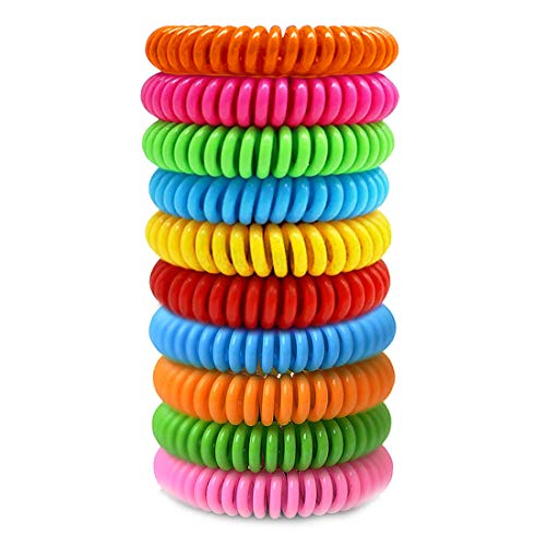 Bracelet Band 10 Pack (10 Pack Individually Wrapped) Reusable and Waterproof Wrist Bands for Adults, Kids, Pets.