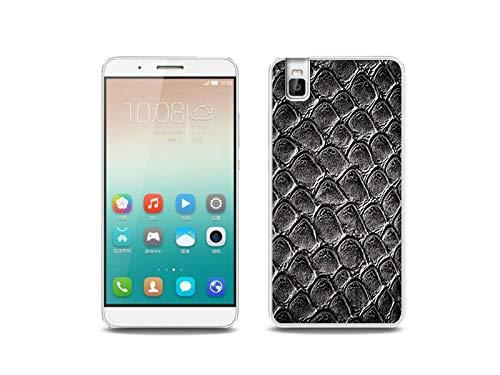 etuo Handyhülle für Huawei ShotX - Hülle, Silikon, Gummi Schutzhülle - Schlangenleder