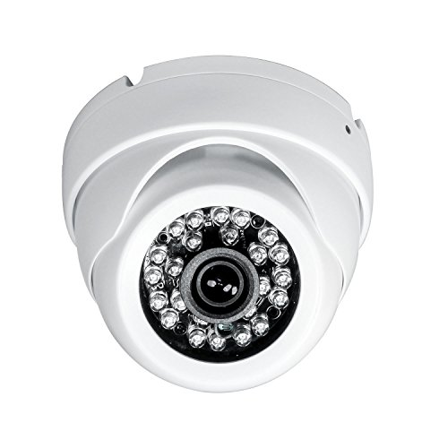 Sinis Hybrid 5MP 4MP 1080P HD-TVI/CVI/AHD/960H CCTV Surveillance Security Camera Day Night Vision Waterproof Outdoor/Indoor 3.6mm Fixed Lens White Metal Dome Default Output 4MP TVI