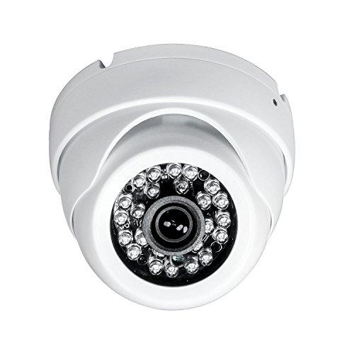 Sinis Security Hybrid Cámara de vigilancia de Seguridad de 5 MP 4 MP 1080P HD-TVI/CVI/AHD/960H CCTV,Resistente al Agua, para Exterior/Interior, 3,6 mm, Sistema de vídeo Domo de Metal