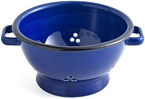 KVV Ceramics 7 inch Personal Colander with Double Handles Perfect For Vegetable and Fruit Portion product image