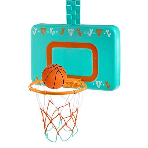MHCYKJ Mini Canasta Interior De Puerta Juego Baloncesto Montado En La Pared para Niños Basquetbol con Bola Y Bomba Pelotas Puertas Casa Oficina