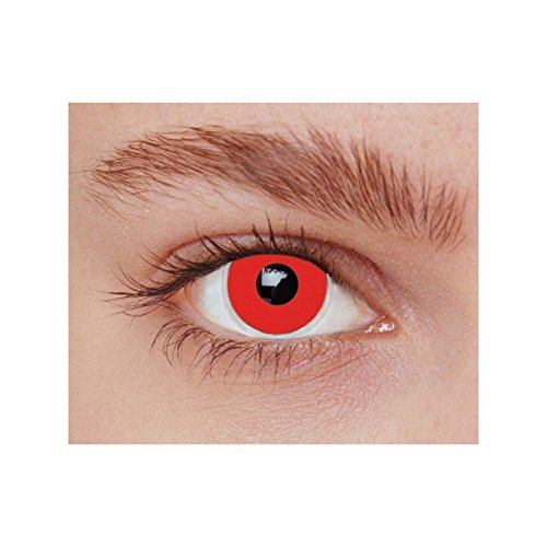 Party Pro 887001 Lentilles fantaisies rouges (sans correction)