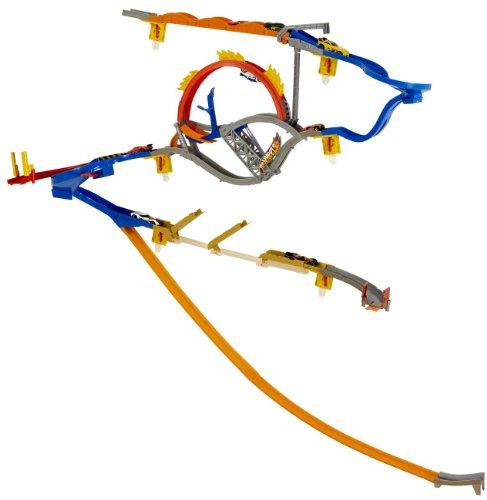 Mattel W2109 - Hot Wheels, Set per pista con fissaggio a parete