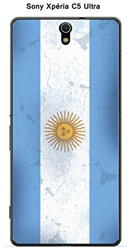 Onozo Carcasa Bandera Argentina Vintage para Sony Xperia C5 Ultra