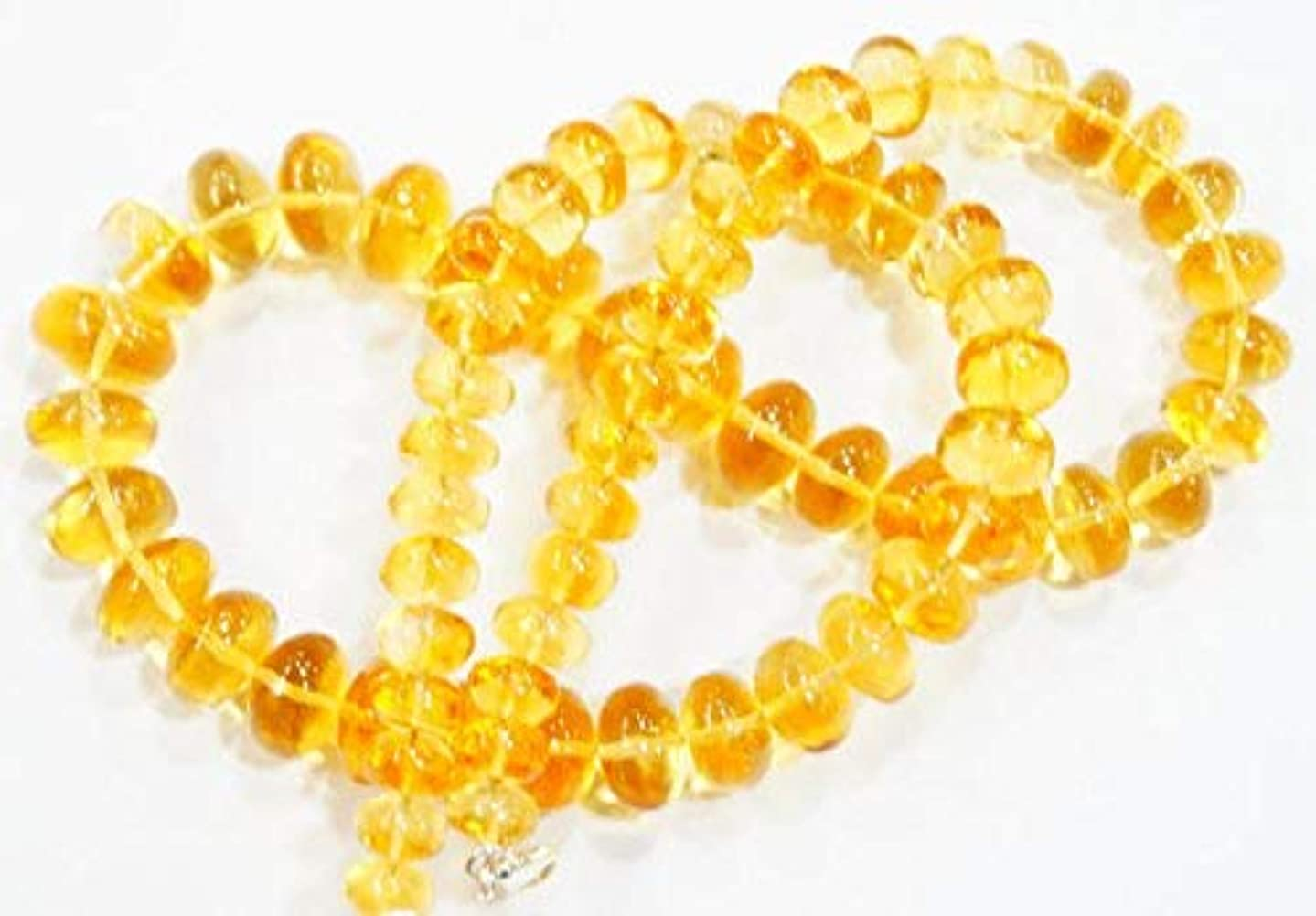 Natural gem Stone Golden Citrine Full Transparent Smooth rondelle Big Beads Complete Necklace top 19 inches 7-13 mm by Gemswholesale