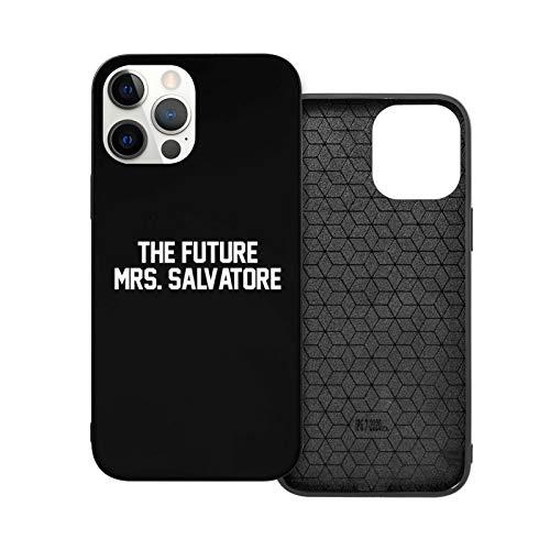 Jinfugongmao Compatibile con iPhone 12/11 PRO Max 12 Mini SE X/XS Max XR 8 7 6 6s Plus Custodie The Future Mrs. Salvatore- White Nero Custodie per Telefoni Cover