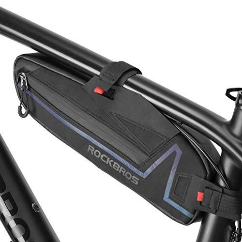 ROCKBROS Rahmentasche Fahrrad Tasche Front Tube Bag für MTB, Rennrad 1.5L