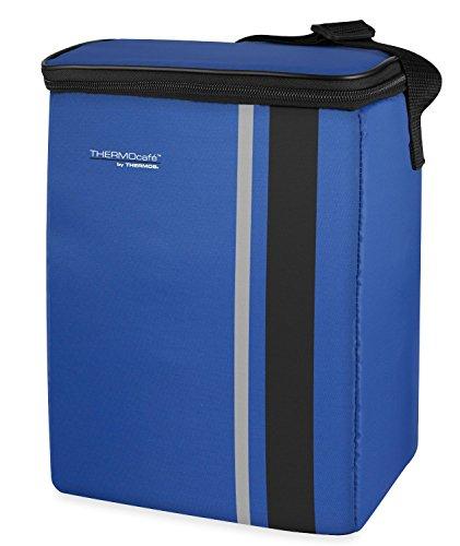 ThermoCafé by THERMOS Kühltasche Neo medium 8 Liter - Isolierte Einkaufstasche aus Polyester, blau 16 x 22 x 28 cm - Faltbare Isoliertasche für Sport, Picknick, Büro, Auto oder Urlaub - 4090.253.080