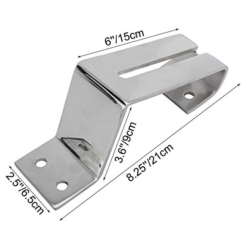 DasMarine Standard Transom Mounting Bracket Stainless Steel Boat Dive Ladder Parts Quick Release Mount Bracket for Transom Diving Ladder and Boat Sport Dive Ladder(Ladder is not Included)