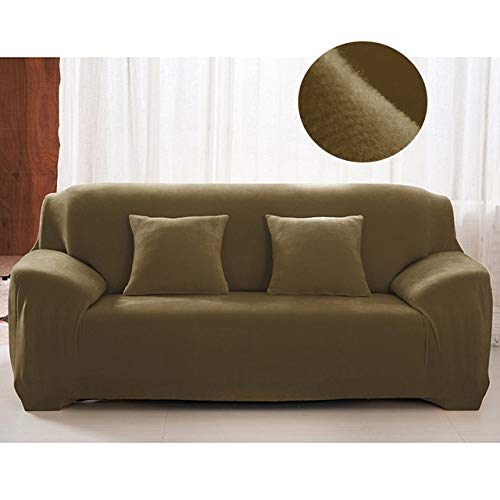 KTUCN Warm Thick Velvet Recliner Sofa Covers, Retro Sofa Cover, Soft Couch Slipcovers for 1/2/3/4 Seaters, Muster 13, 3-Seater 190-230cm