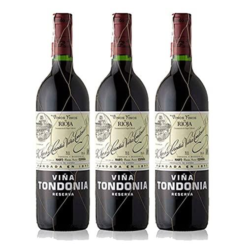 Vino tinto Viña Tondonia Reserva de 75 cl - D.O. La Rioja - Bodegas R.Lopez de Heredia (Pack de 3 botellas)