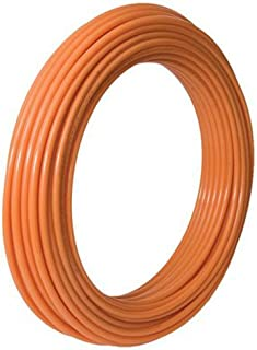 SharkBite U860O100 PEX Pipe 1/2 Inch, Orange, Heat Radiant Barrier, Potable Water, Push-to-Connect Plumbing Fittings, 100 Foot Coil