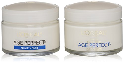 L'Oreal Paris Skincare Age Perfect Anti-Aging Day Cream Face Moisturizer With Soy Seed Proteins and SPF 15 Sunscreen for Sagging Skin and Age Spots, Evens Tone and Hydrates Deeply, 2.5 Oz