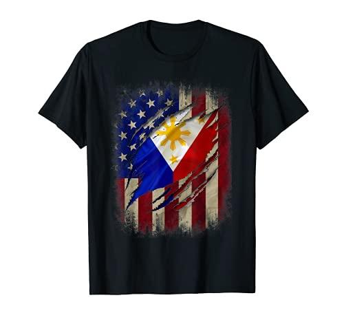 Filipino American Flag tshirt Filipino Blood Inside Me shirt