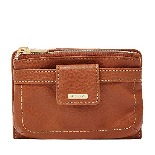 Relic by Fossil Women's Cameron Checkbook Wallet, Color: Saddle