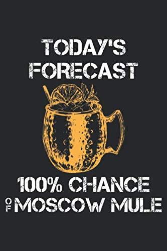 Moscow Mule: Moskau Maultier Prognose Cocktail Wodka Bier Liebhaber Notizbuch DIN A5 120 Seiten für Notizen, Zeichnungen, Formeln | Organizer Schreibheft Planer Tagebuch