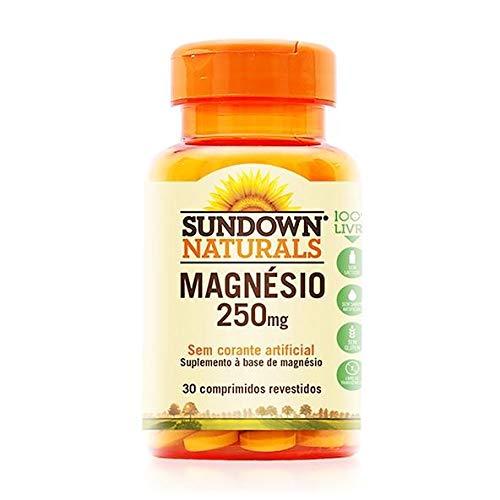 Magnésio 250mg - 30 comprimidos, Sundown Naturals, Sundown Naturals